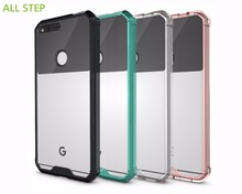ALL STEP Fashion Transparent Shockproof 2 IN 1 TPU & Acrylic Case For Google Pixel XL Back Cover Protect Phone Case Fundas Etui
