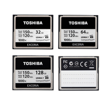 TOSHIBA 1000x 32GB 64GB 128GB CompactFlash CF Card High Speed Flash Memory Card For DSLR Camera Full HD 3D Video Camcorder