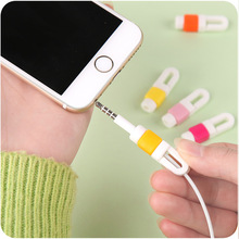 10pcs Cable wire Organizer Earphone Cable Protector For iphone 5 5s 6 7 cable saver Protection cable winder