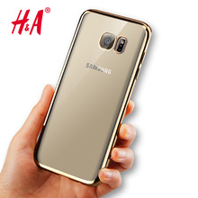 Case for Samsung Galaxy A3 A5 A7 2016 S3  S4 S5 S6 S7 Edge Luxury Style Plating Gilded TPU Soft Silicone Phone Cover Cases