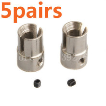 Wholesale 5Pairs Allum Alloy 02016 Universal Joint Cup B/Set Screws HSP Upgrade Parts For 1/10 RC Car Buggy Monster Truck Baja