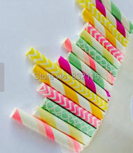 200pc Mixed 8 Color Summer Yellow Paper Straws,Party Decor,Cake Pops,Birthday,Baby Shower,Bridal,Wedding
