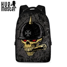 HUE MASTER Skull series laptop backpack can store 15.6 inch laptop casual travel comfortable backpack personality bags