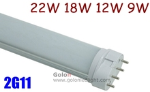 18w 2g11 led tube 417mm replace 4-pin pll lamp 36w 120v 230v 277V Fedex free shipping 12W 322mm 9W 227mm long LED 2G11 tube(China)