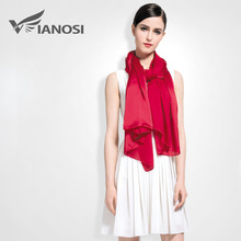 [VIANOSI] Silk Scarf Women Luxury Solid Soft Shawls and Scarves Brand Large Foulard femme Fashion Accessories VA017(China)