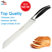 Brand new stainless steel 7Cr17 top quality 8'' inch kitchen bread knife kitchen meat knife