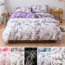 Marble Pattern Bedding Sets Duvet Cover Set 2/3PCS Single Queen King Size Comforter Sets Bed Quilt Cover Flat Sheet Pillowcases(China)
