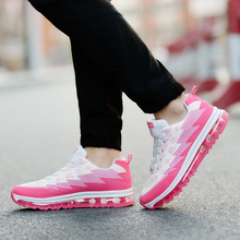 2017 Summer Women's Sneakers Air Running Shoes Outdoor Mesh Comfortable Brand Sports Shoes Pink High Quality Plus Size