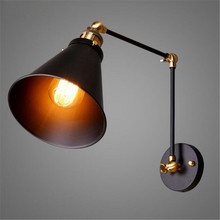 American Country Style Wall Light E27 Loft Industry Collapsible Telescoping Pole Double Living Room Sofa Backdrop Decorative Wal