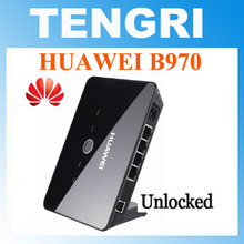 Unlocked Huawei B970 B970b 3G wireless Router Gateway HSDPA WIFI router With SIM Card Slot 4 LAN port