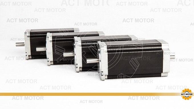 ACT Motor 4PCS Nema23 Stepper Motor 23HS2430B Dual Shaft 4-Lead 425oz-in 112mm 3.0A Bipolar 8mm-Diameter Engraving Machine Mill<br><br>Aliexpress
