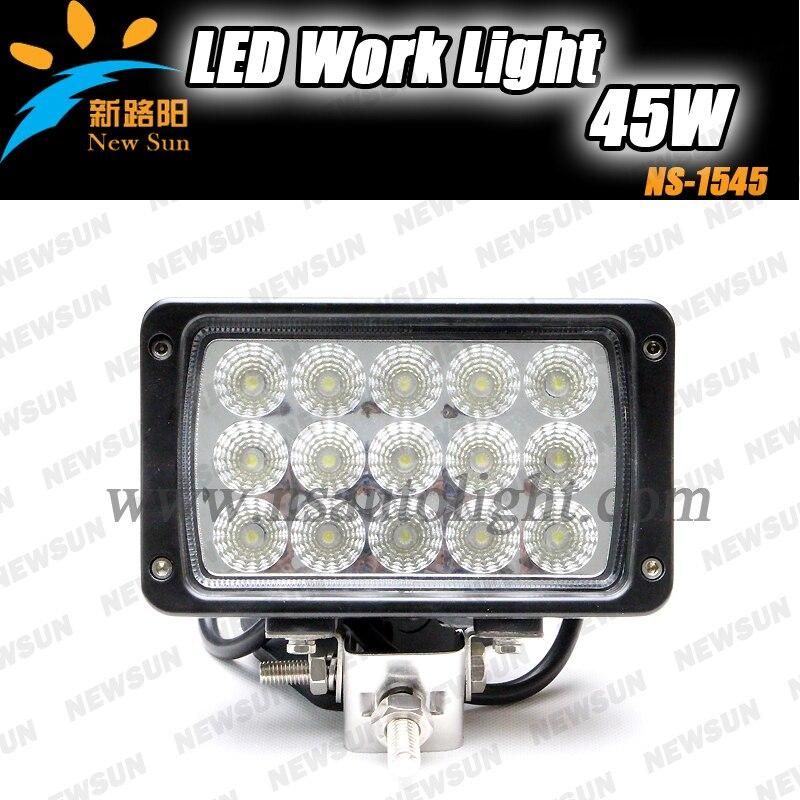 CREE Chips 24V 45W LED Work Light Motorcycle Led Driving Lights, 12v 24v Diecast Aluminum Housing 45w Led Work Lighting<br>