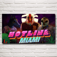 Hotline Miami Video Games Artwork Silk Fabric Poster Print 11x20 16x29 20x36 Inches Home Wall Decor Painting Free Shipping