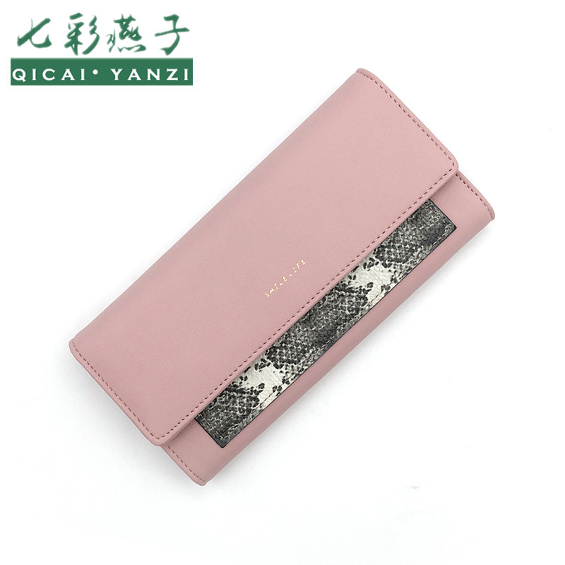 QICAI.YANZI Women Leather Walelt Brand Long Coin P...
