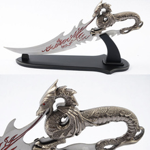 Chinese Dragon Sword  Delicate Home Decoration Metal Craft With Wooden Frame 55cm Length Weapon Model Stainless Steel