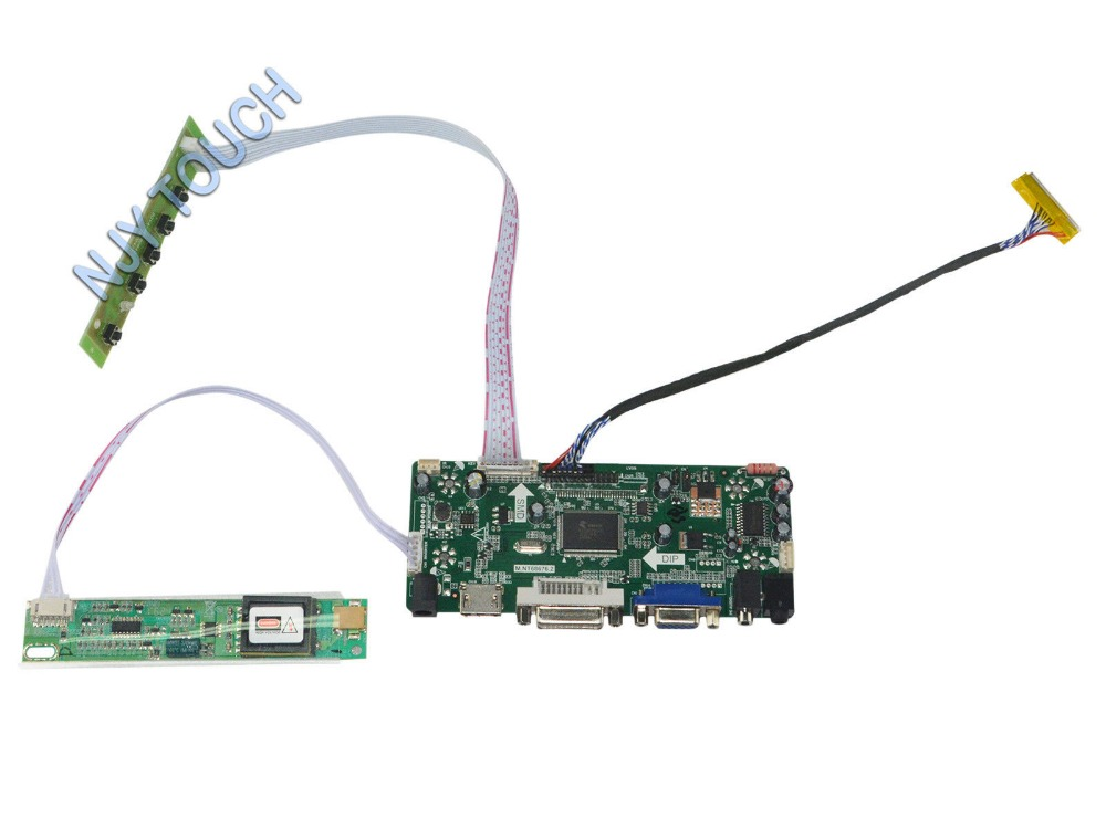 M.NT68676.2A HDMI DVI VGA AUDIO LCD Controller Board for B154EW01 B154EW02 B154EW03 B154EW04 B154EW08 1280x800 CCFL LVDS TFT LCD<br>