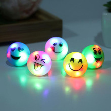 100pcs/lot Colorful Glow Flashing LED Finger Ring Fun Luminous Smiling Face Flash Ring Led Toy Party Decoration Supplies ZA3645(China)
