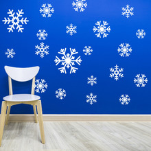 20 pcs per set Snowflake Decal Sticker Variety Pack Winter Holiday Decor Waterproof Wall Window Stickers for Living Room ZB417