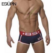 ESIUPIN Brand Underwear Men Boxer Shorts Sexy Cotton Cueca Boxers Men Underwear for Man Gay Boy Underpants Slip Male Panties