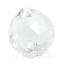 1 Clear Crystal Feng Shui Lamp Ball Prism Rainbow Sun Catcher Wedding Decor 30mm -L057 New hot(China)