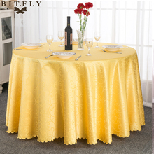 Jacquard Round Tablecloth Table Cloth Cover White/Pink/Gold/Ivory For Wedding Party Restaurant Banquet Home Decoration(China)