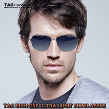 new TAG Brand No Screw Welding Design 2017 Sunglasses Men women Retro Mirror Ultralight Titanium Gradient Sun Glasses for Men(China)