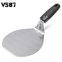 Stainless Steel Pizza Lifter Kitchen Cake Transfer Turner Cookie Spatula Plastic Handle Cookie Cake Server Spatula Shovel
