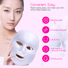 Hot 7 Color LED Facial Mask EMS Microelectronics Photon Face Mask Wrinkle Acne Removal Cleansing Skin Rejuvenation Massage Spa 0(China)