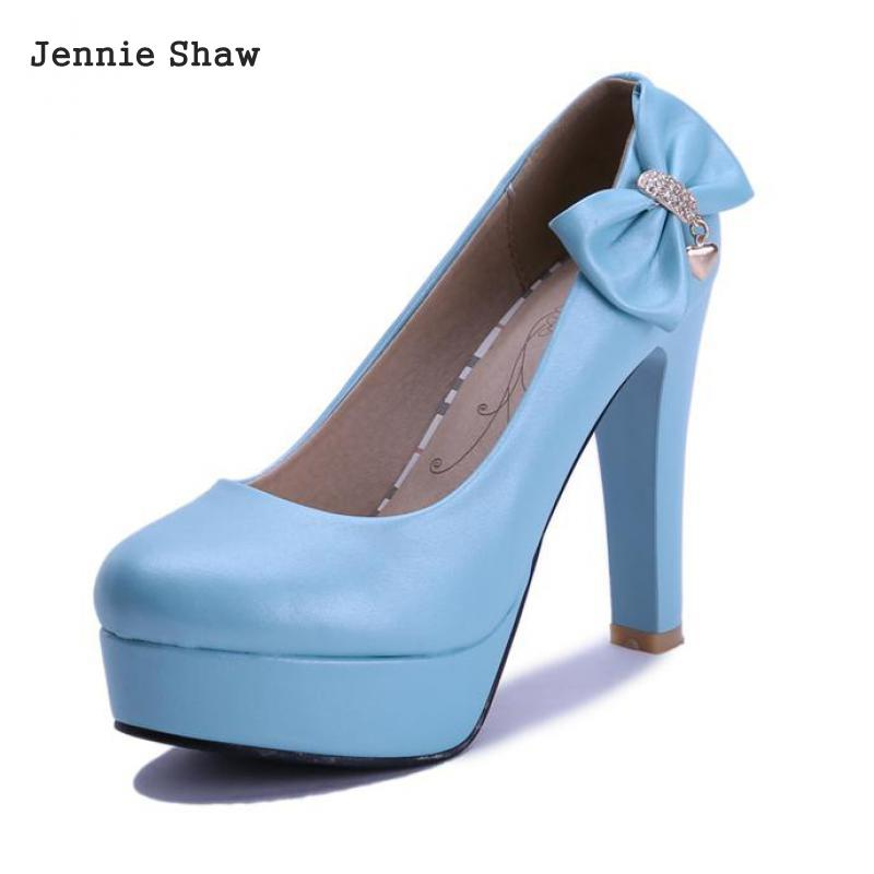 Woman wedding Shoes High Heels shoes Pumps Round Toe platform shoes for women sys-1024<br>