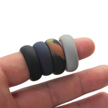 High Quality Trendy 9 10 11 12 Size 3 colors Cool Environmental silicone Ring For Men Finger Jewelry Gift(China)