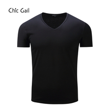 4 Colors Men T-Shirts Black Cotton Simple design Ups for Male US Size(China)