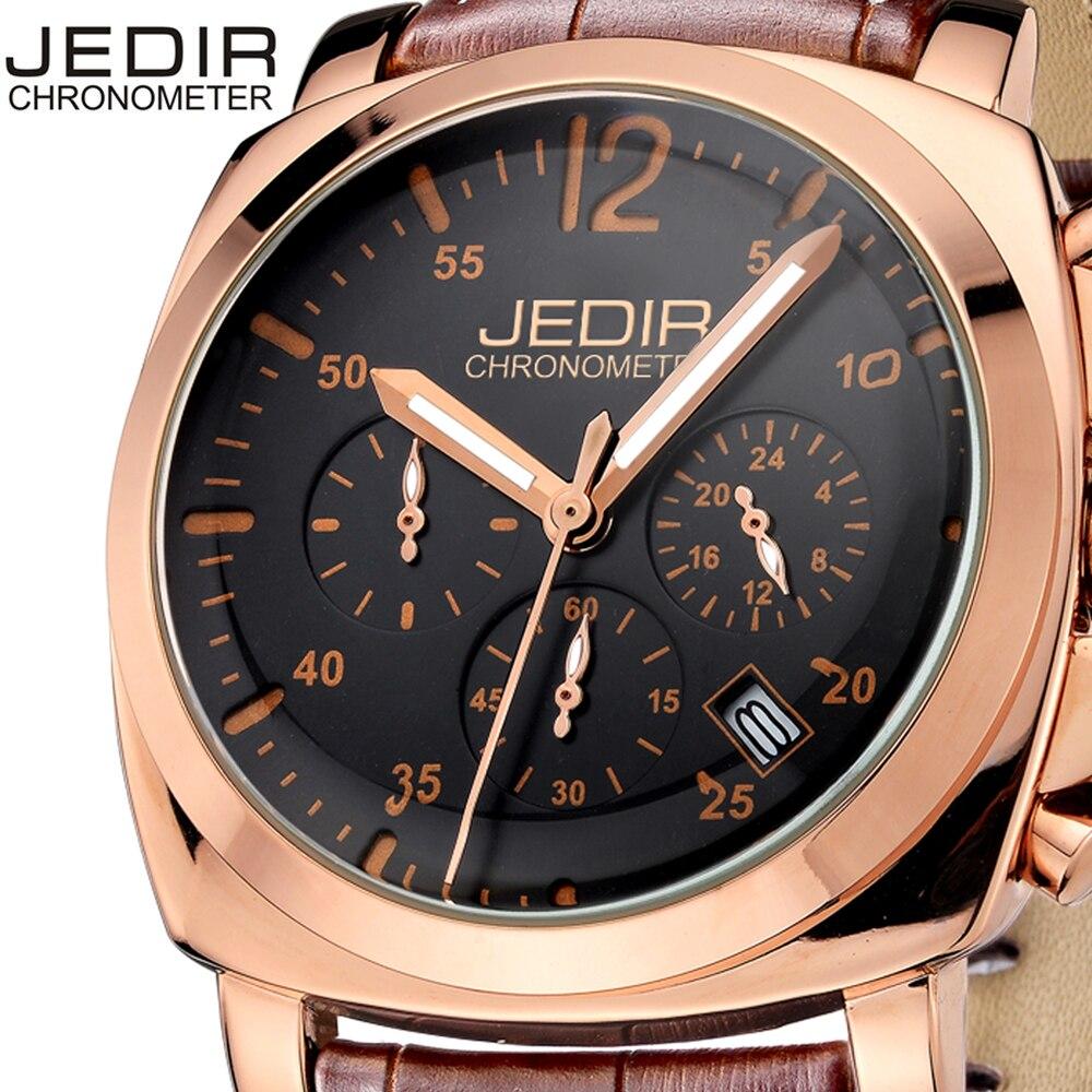 JEDIR Men Casual Watch Genuine Leather Luxury Men Watches Quartz Wristwatch CHRONOGRAPH &amp; 24 hours Function Sport Watch relogio<br>