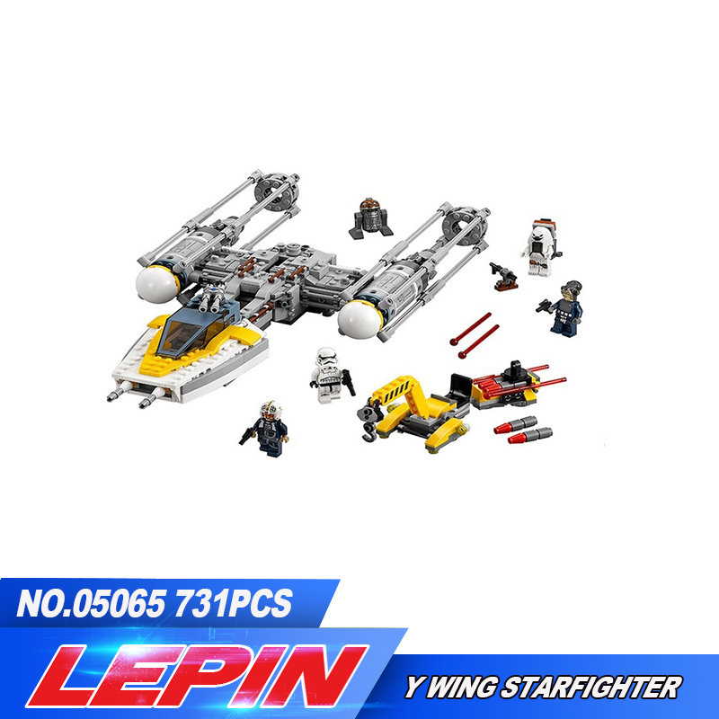 New Lepin 691Pcs 05065 Genuine  Series The Y-wing Starfighter Set Building Blocks Bricks Educational Toys Gift 75172<br>