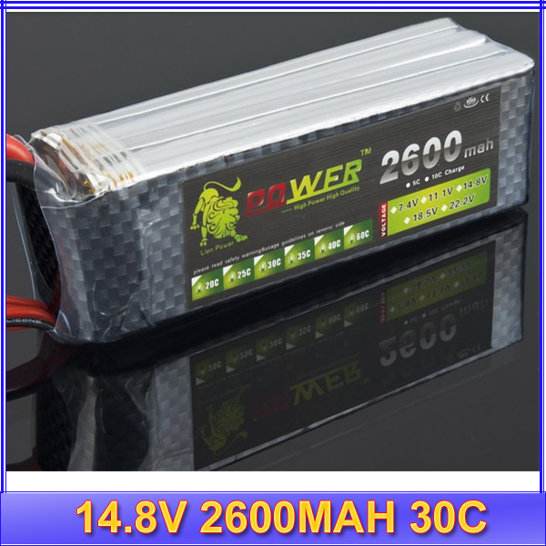 1pc Lipo Battery 4S LION 14.8V 2600MAH 30C rc plane/heicpoter lipo battery<br><br>Aliexpress