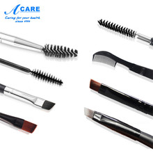 ACARE 1PC Professional Dual Sided Duo Brow Brush Eyebrow Enhancer Angled Eyebrow Brush + Comb Beauty Makeup Tool(China)