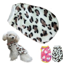 High Recommend 2 Colors Pet Cat Dog Villus Clothes Winter Leopard Pet Vest Clothing Ropa Para Perros Dog Costume Clothes