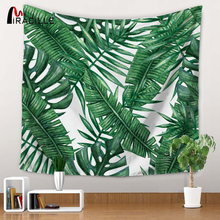 Miracille Polyester Tropical Plant Pattern Wall Cloth Hanging Tapestry Wedding Party Gift Bedspread Beach Towel Yoga Picnic Mat