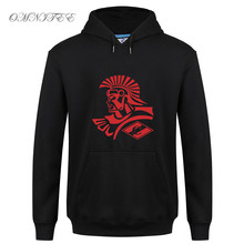 New FC Spartak Moscow Russian Logo Printed Sweatshirts Men Fashion Casual Fleece Hat Hoodies Round Neck Men Pullover(China)