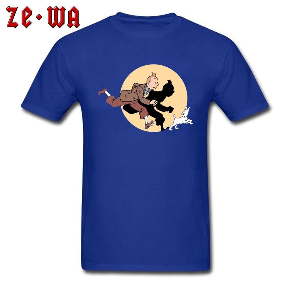 TIN TIN THE MOVIE -103 Fashionable Mens T-Shirt Round Collar Short Sleeve Cotton Fabric Tops Tees Custom Sweatshirts TIN TIN THE MOVIE -103 blue