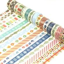 (2pieces/lot) Christmas Washi Tape Decoration Stickers DIY Masking Tape cintas adhesivas decoracion