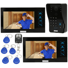 "KKmoon Video Door Phone Intercome Doorbell 2pcs 7"" Color TFT LCD Monitors Touch Button Waterproof Outrdoor 1000TVL IR Camera"