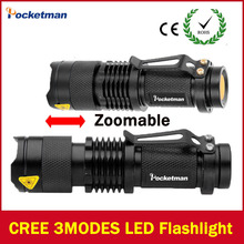 2017 LED flashlight Lanterna led High Power Torch 2000 lumen Zoomable mini Flashlight tatica light lantern high-quality(China)
