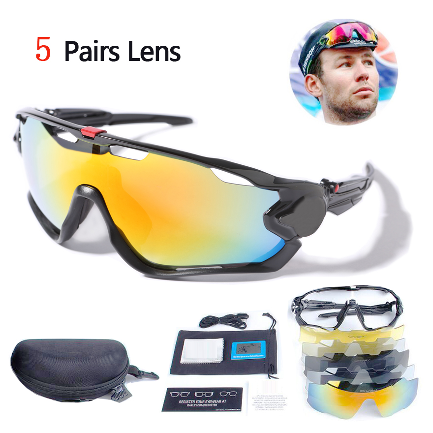 2017 15 colors 5 lens New Men Polarized Jawbreakered Sunglasses UV400 Goggle Sun Glasses Sport Eyewear occhiali da sole Gafas<br><br>Aliexpress