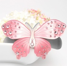 High Quality Exquisite Rhinestone butterfly hair clip Fashion Lovely Barrettes jewelry girl free shipping AA55