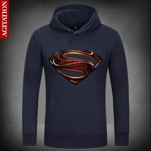 Man of Steel (Film) Superman Symbolize Hoody Coat Pullover Hoodies Sweatshirt DC Comics Sweatshirts Outerwear Clothes(China)