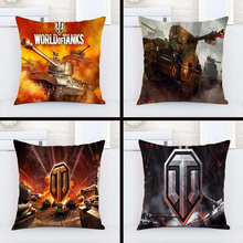 Hot Sale World of Tanks Logo Game Gaming Custom Pillowcase Pillow Sham Throw Pillow Cushion Case Cover Twin Sides Printed(China)