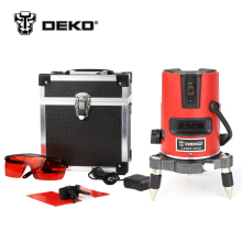 DEKOPRO 5 Lines 6 Points Laser Level 360 Self-leveling Rotary Cross Laser Line Leveling with Outdoor Mode(China)