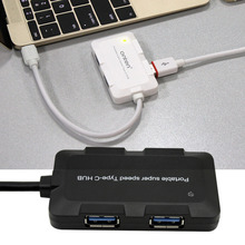 High Quality Portable Size Outdoor Mini Multiple 4 Ports USB 3.0 Type-C Hub Adapter For PC Laptop Tablet Computer Free Shipping