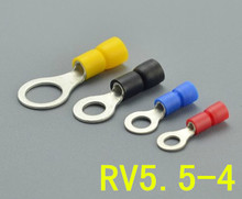 The introduction of pre insulated circular cold pressed terminal head O RV5.5-4 type wiring terminal brass 500