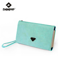 DOLOVE 2016 New Mobile Phone Manufacturers Women Bag Lady Card Bag Long Hasp Wallet Selling Brand Purse Wholesale